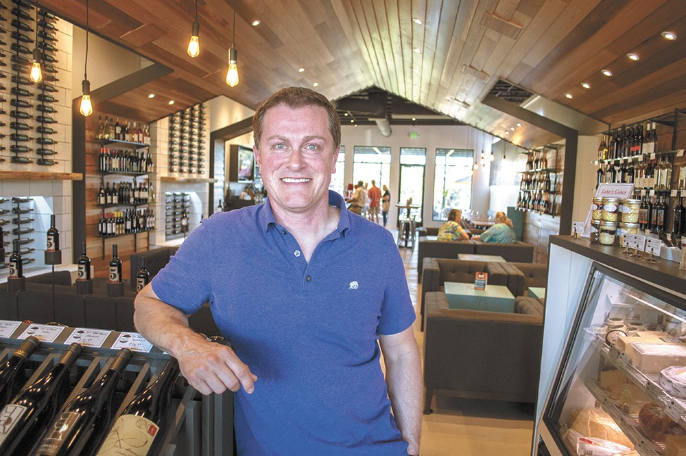Nectar Wine and Beer owner Josh Wade inside the new Kendall Yards location. - SARAH WURTZ
