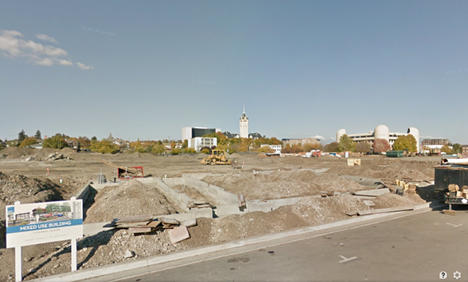 Above: In October 2013, this was the view outside the Inlander's front door on Summit Parkway. - GOOGLE