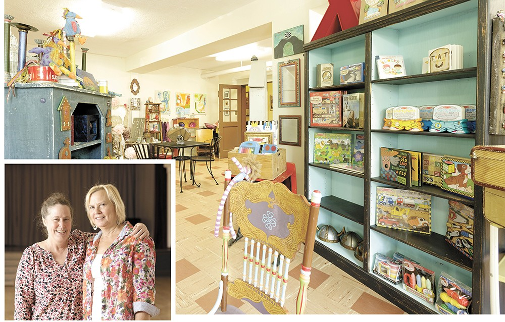 LEFT: Woman's Club President Rosemary Small (left) with past president Susan Bresnahan. ABOVE: The club's basement gift shop Artemisia. - YOUNG KWAK