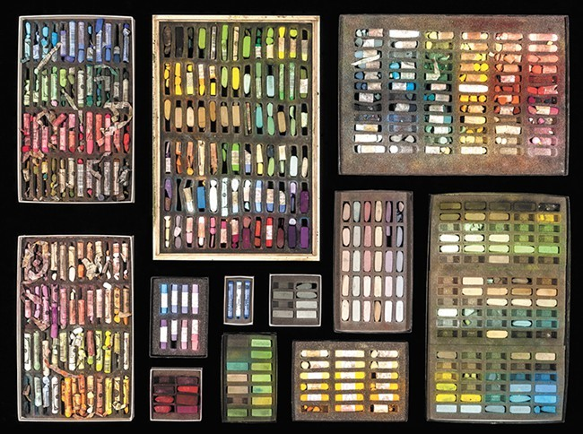 Pastels owned by Spokane artist Sheila Evans, featured in The Artist's Palette: Through the Lens of Dean Davis. - DEAN DAVIS