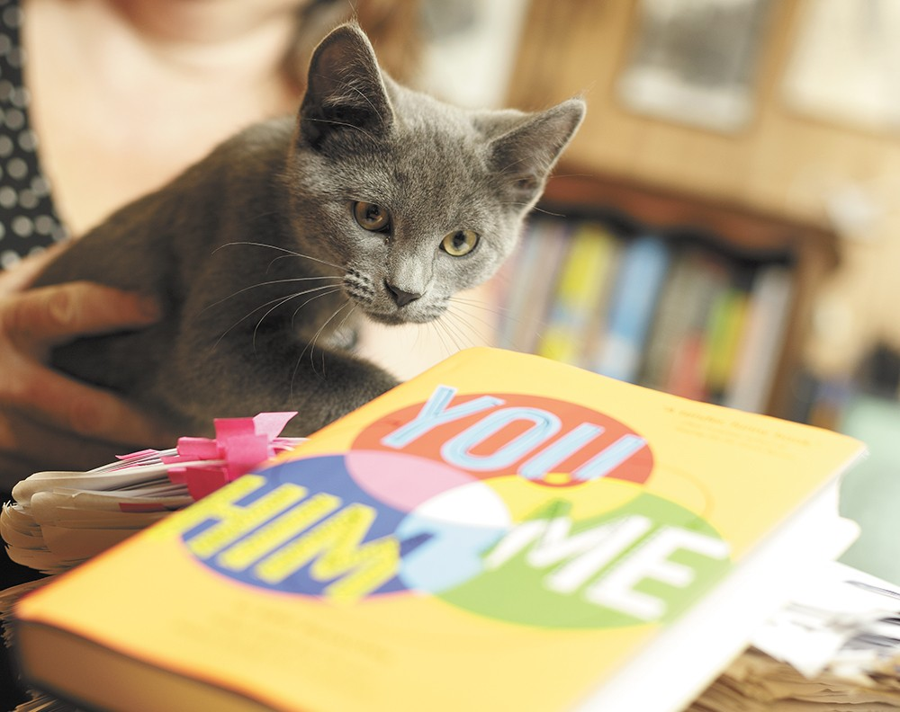 The Dinnison family's kitten, Raymond, wishes he could read. - YOUNG KWAK