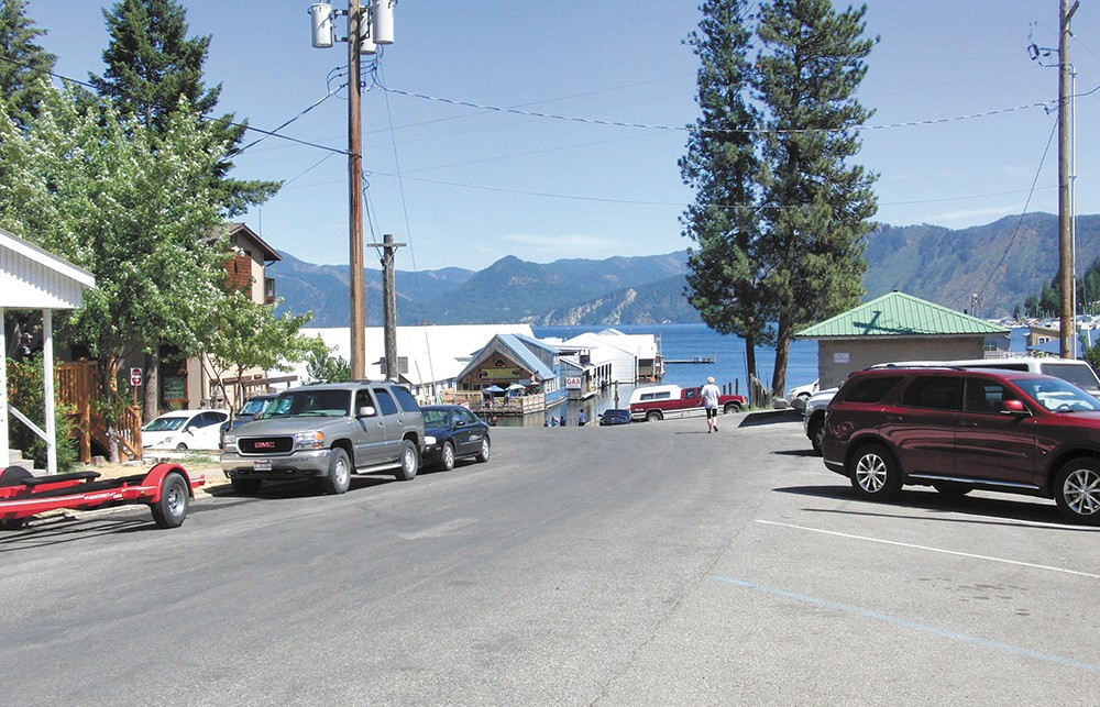 The entrance to Bayview's heart — Lake Pend Oreille — is this public boat launch. - LAEL HENTERLY