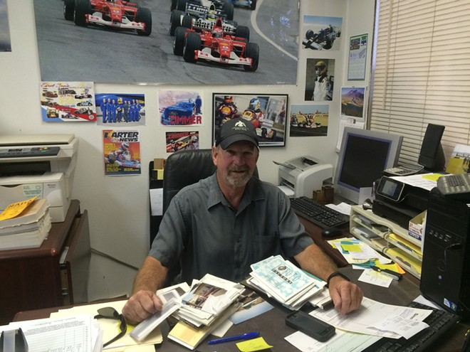 Vince Zimmer in his office at Alpine Haus Marina