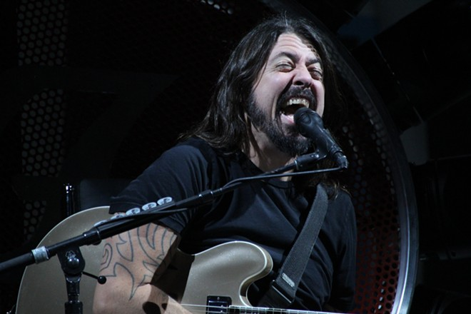 """We've been a band for 20 f—-ing years,"" Grohl says, ""And we've never played Walla Walla!"" - MATTHEW SALZANO"