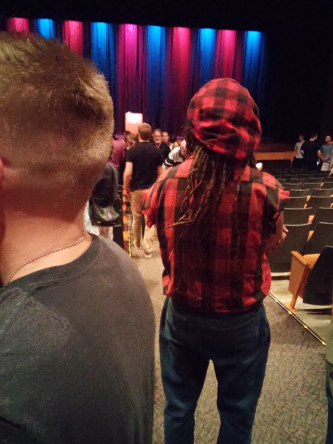 White guy with dreadlocks at a Republican event - JAKE THOMAS