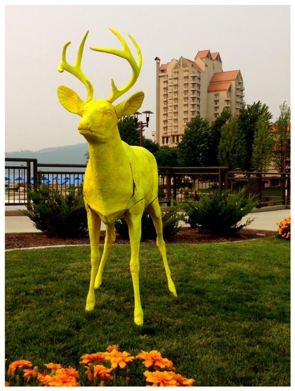 What's this bright yellow deer all about? That's the question the J.A. and Kathryn Albertson Family Foundation want you to ask. - PHOTO COURTESY OF ALBERTSON FOUNDATION
