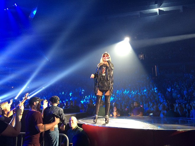 A rock 'n' roll-inspired Shania Twain at the Spokane Arena. - LAURA JOHNSON