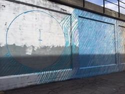 Addison Karl's mural, in part, is part of S - pokane Arts Downtown Mural Project - MAX CARTER