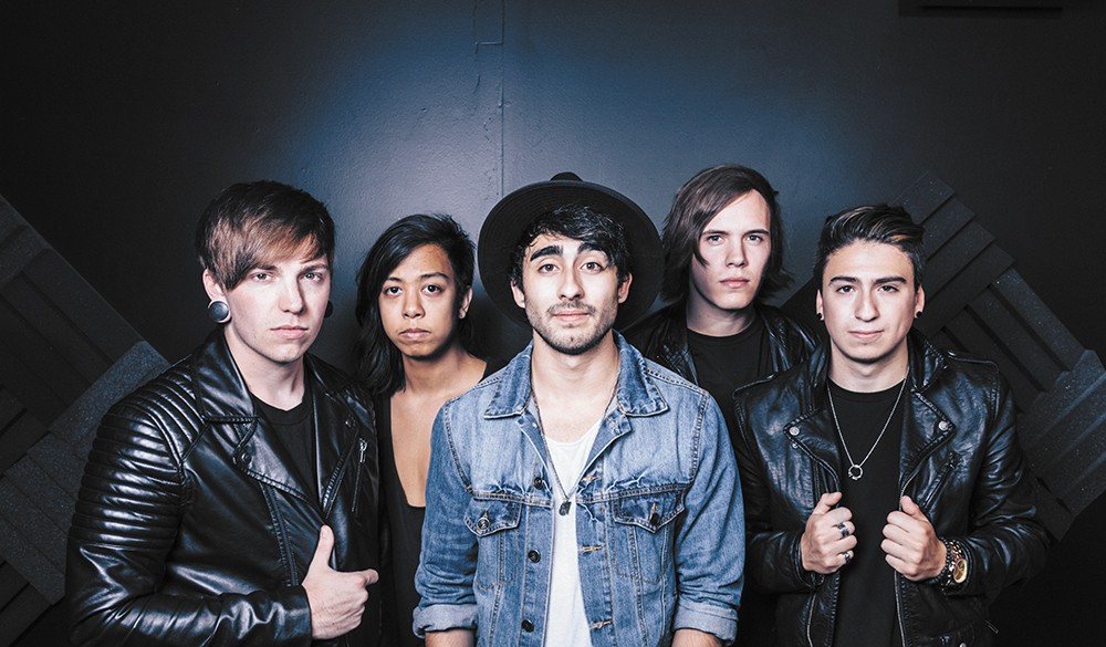 Local hard rock act Light Up the Sky — from left, Brian Van Buskirk, David Wen, Ray Luna, Nick Mayhew and Isaac Luna — are now part of the Rise Records family.