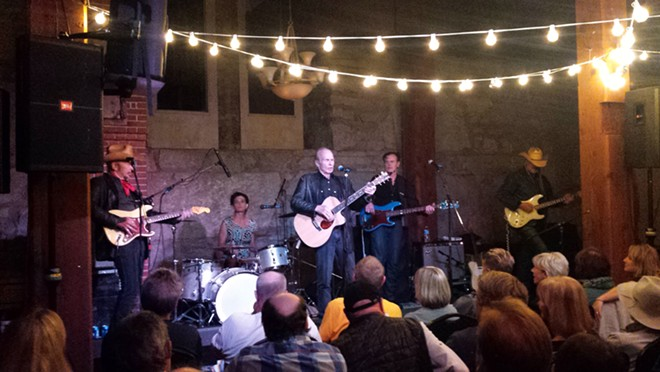 Dave Alvin, left, and Phil Alvin led the Guilty Ones through a two-hour set Wednesday at Chateau Rive. - DAN NAILEN