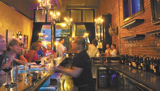LeftBank Wine Bar features more than 50 wines by glass. - JEFF FERGUSON