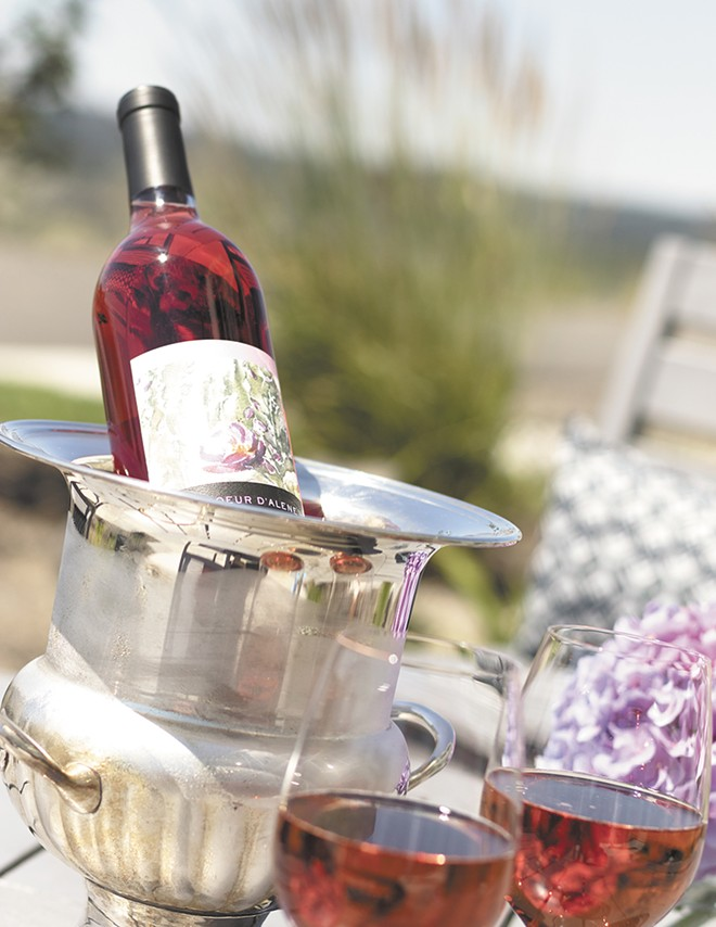 Coeur d'Alene Cellars' Rosé chilling on a hot summer day. - YOUNG KWAK