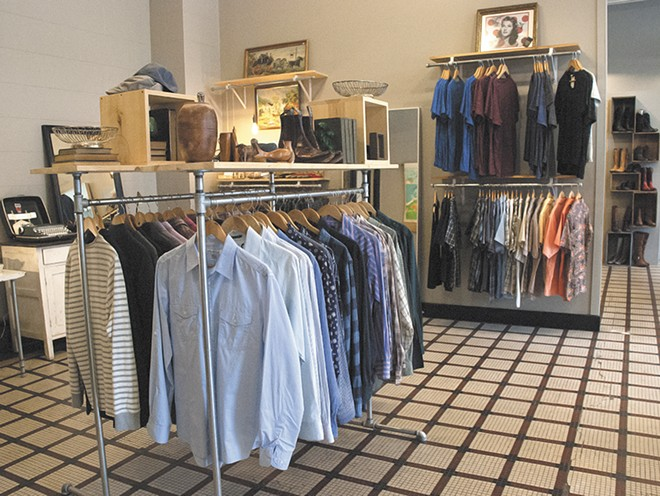 Organized racks help you shop at Fringe & Fray. - TIMOTHY PHILLIPS