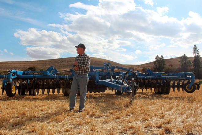 Randy Suess, 61, finished his last harvest at his family's century-old farm near Colfax, Wash. Agriculture experts worry that the aging population of farmers makes it difficult for younger farmers to break into the business. - CHELSEA KEYES PHOTO