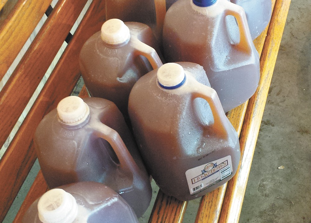 Bring your own jugs to take home the fruits of your labor. - DAN NAILEN