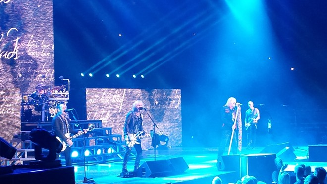 "Def Leppard knocks out ""Love Bites"" at Spokane Arena Wednesday. - DAN NAILEN"