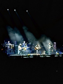 Neil Young and Promise of the Real played a memorable and not-too-polished set at the Spokane Arena Friday. - LAURA JOHNSON