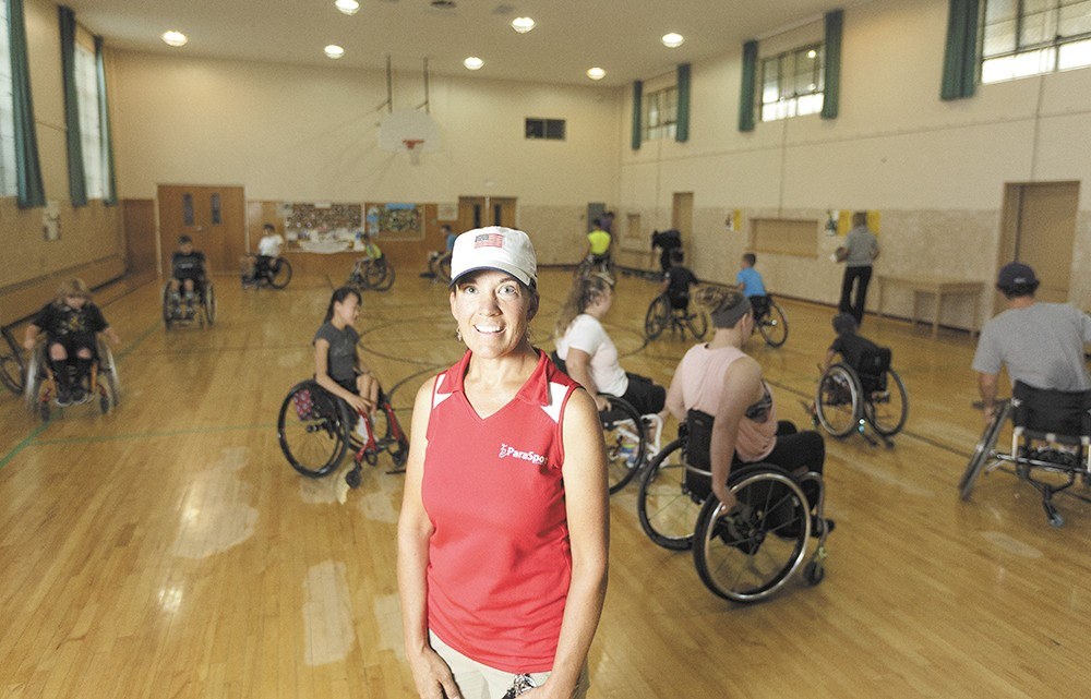 """""""There's no reason they can't do anything they want,"""" says Parasport Executive Director Teresa Skinner, with some of her athletes. - YOUNG KWAK"""