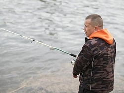 Kalispel Tribal Vice Chair Ray Pierre fishes along the Pend Oreille River near Cusick, Wash. The Kalispel tribe is very concerned about water pollution impacting fish.