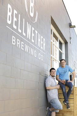 Thomas Croskrey (left) and David Musser were unlikely partners before opening Bellweather Brewing Co. - YOUNG KWAK