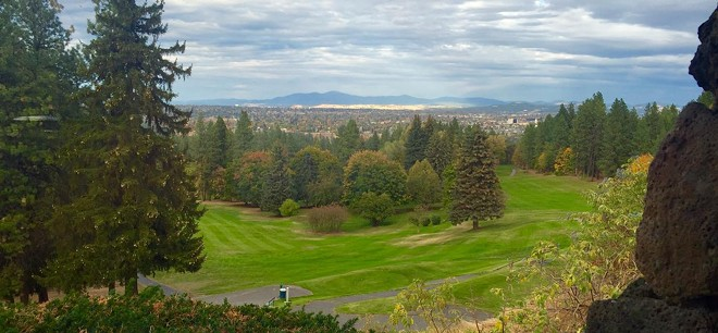 View of the 10th and 18th fairways at Indian Canyon Golf Course - SPOKANE PARKS AND RECREATION