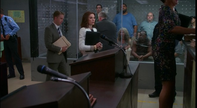 The noisy chaos of bond court on The Good Wife