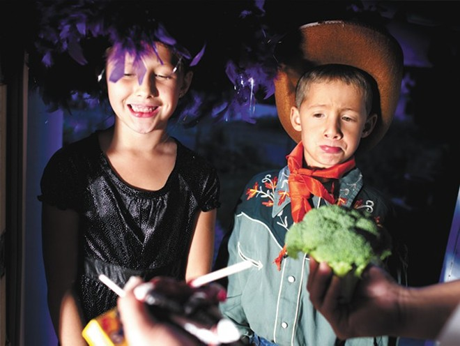 We hope no one's passing out broccoli in place of chocolate... - INLANDER