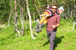 Pepiton and Charlie Falke taking a break while shooting in Norway. - REBEKAH WILKINS-PEPITON