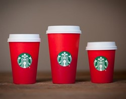 The new Starbucks holiday cups had the Internet in a tizzy yesterday.
