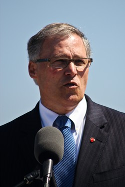 "Washington Gov. Jay Inslee says ""anti-refugee comments by governors ... divide people and foment intolerance"""