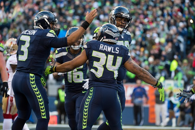 Thomas Rawls filled in for Marshawn Lynch, and racked up more than 200 yards on the day. - SEAHAWKS.COM