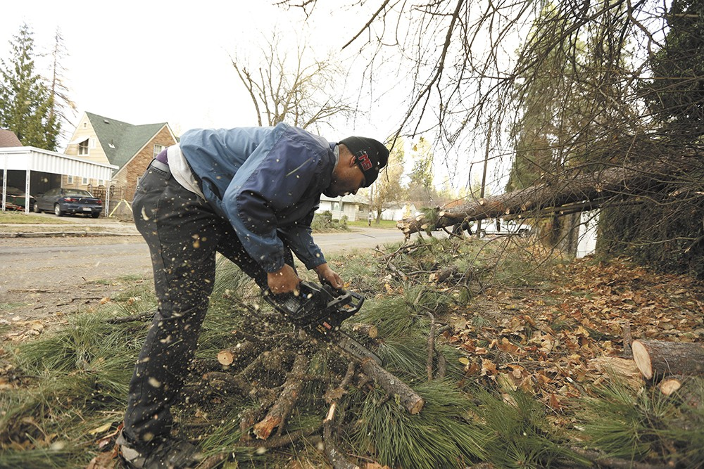 Cleanup was still going a week after the storm. - YOUNG KWAK