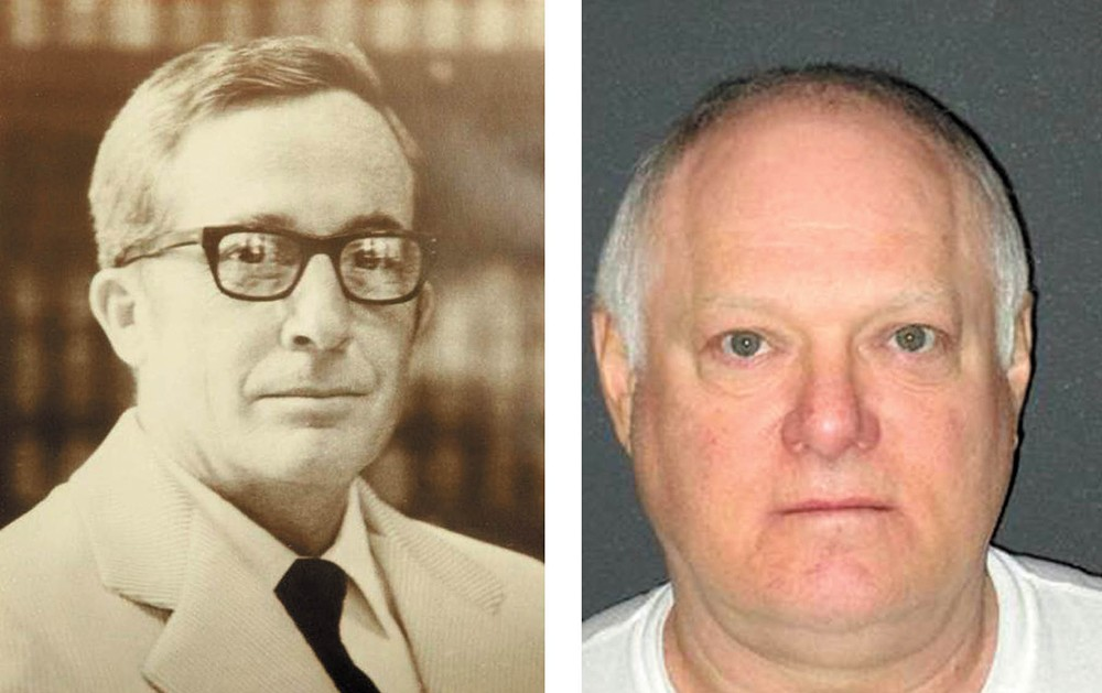 Judge James Lawless, left, and the man convicted of killing him, Ricky Young.