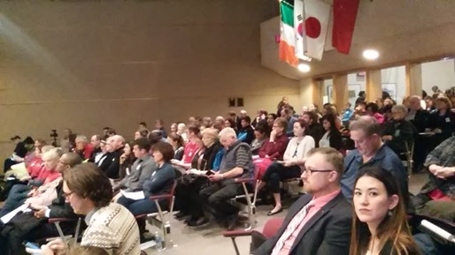 Council chambers was packed primarily with supporters of the sick leave ordinance.
