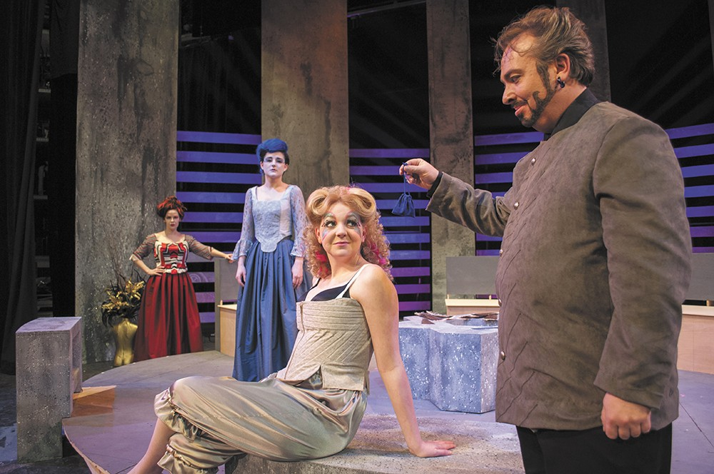 The cast of the Civic Theatre's Les liasons dangereuses. From left: Josephine Keefe, Nichole Dumoulin, Phletha Hynes and Ben Dyck. - SARAH PHILP