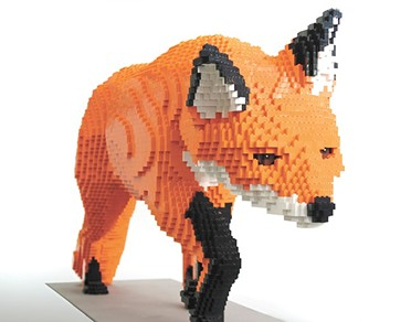 This massive fox made of Legos is one of many sculptures on display for Nature Connects - .