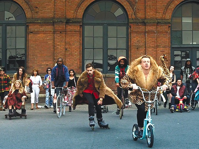 Macklemore (right) and Ryan Lewis might break the Internet with their new tunes. And not in a good way.