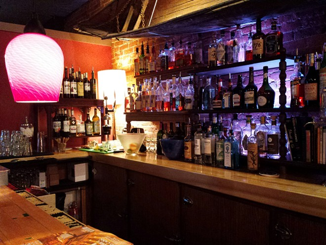 The bar holds a little something for everyone, from a large absinthe selection to select bourbons and a few  locally made spirits. - DAN NAILEN