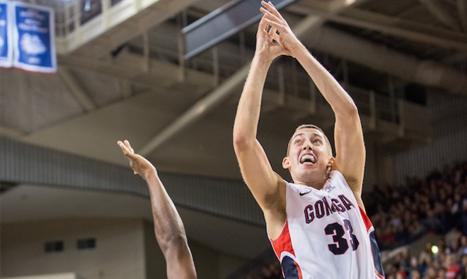 Kyle Wiltjer struggled against St. Mary's Saturday.