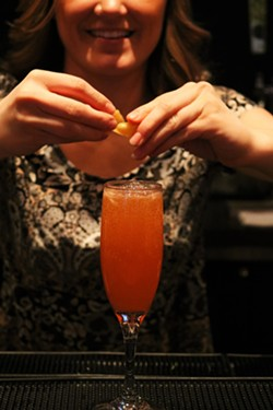 Get your Happy Hour fix and a little burst of vitamin C with the AP Squared cocktail. - MEG MACLEAN