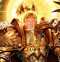Kneel before my glory, Chris Christie! Swear your fealty to your God Emperor Trump!