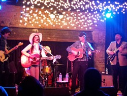 Whitney Rose, left, had Sam Outlaw as part of her band during her opening set. - DAN NAILEN