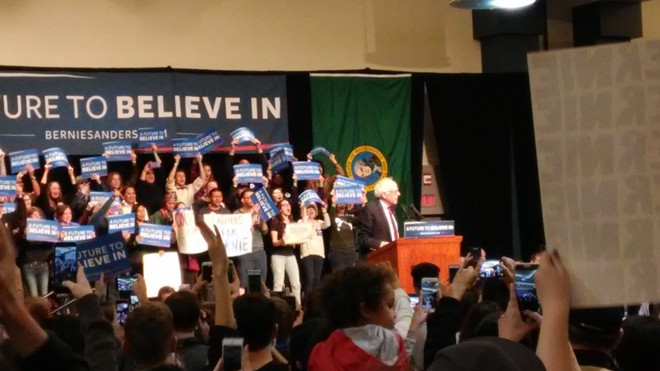Bernie Sanders at the Spokane Convention Center - JAKE THOMAS