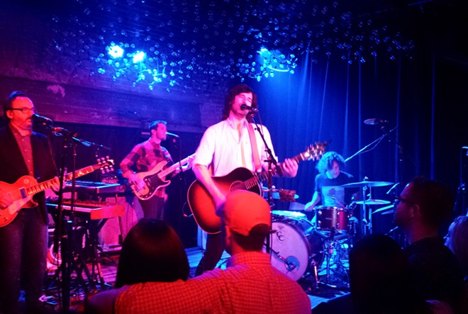 Pete Yorn played to a packed house at the Bartlett Sunday. - DAN NAILEN
