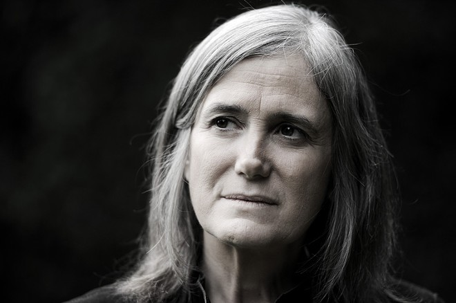 Amy Goodman speaks at Lewis and Clark High School on Wednesday.