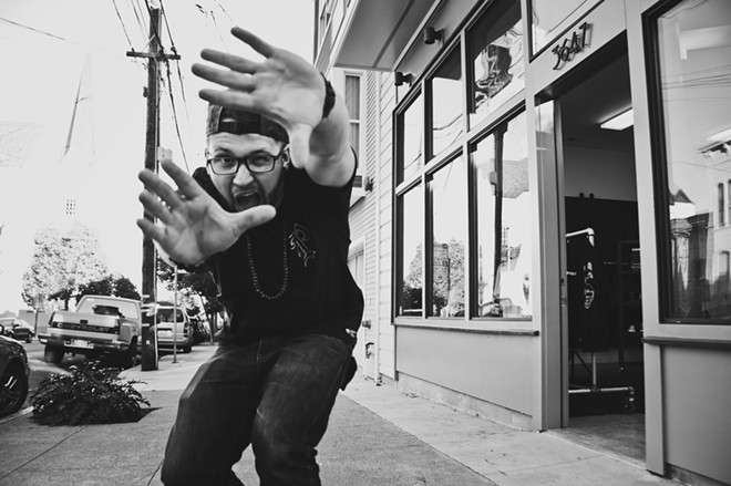 Rapper Andy Mineo comes to the Knitting factory tonight. Stick around after the show, you may even get pulled into a game of dodgeball.