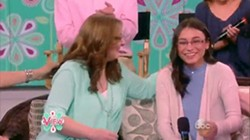 Cynthia Nunley, left, and her daughter Tabitha on The View - COURTESY OF ABC