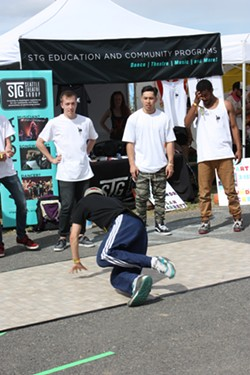 Breakdancers offered another element to the already packed vendor area.
