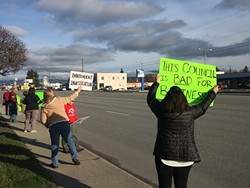Protestors in March call for investigation of Mike Jackson's dismissal - WILSON CRISCIONE