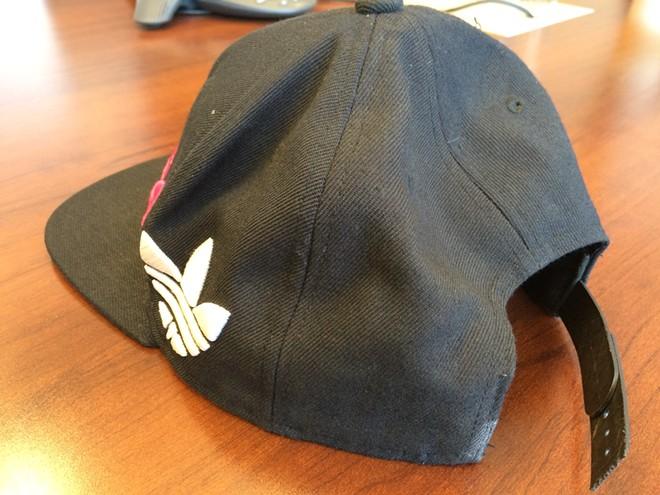 Ryan Holyk was wearing this hat the night he was hit by Deputy Joe Bodman's SUV - MITCH RYALS PHOTO